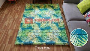 Karpet Katun Tropic Hijau