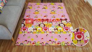 Karpet Katun Tsum-Tsum Stack Up Pink