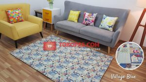 Karpet Katun Village Blue
