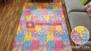 Karpet Katun Winter Cats