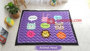 Karpet Anak Playmat Animal Head