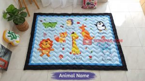 Karpet Anak Playmat Animal Name