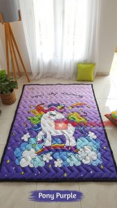 Karpet Anak Playmat Pony Purple