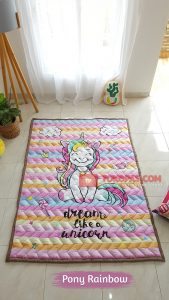 Karpet Anak Playmat Pony Rainbow