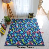 Karpet Lantai Quilting - Flamingo Dream