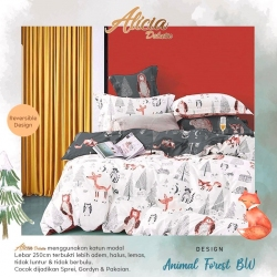Sprei ALICIA Animal Forest BW