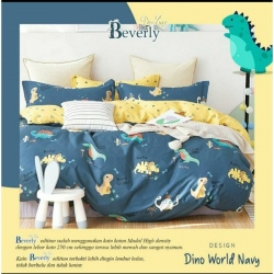 Sprei BEVERLY Dino World Navy