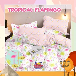 Sprei STAR Tropical Flamingo Pink