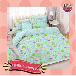 Sprei STAR Tropical Flamingo Toska
